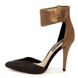 Mia Limited Edition Sydney Bronze Leather Heels 8M